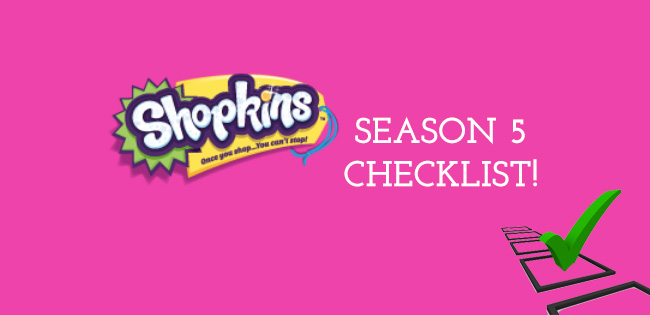 photo regarding Printable Shopkins List known as Shopkins Year 5 Listing - Toy Box Upper body